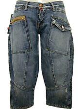 Jeans Capri donna TAKE TWO Taryn Tg. W28 IT 42 Denim Vintage Original New