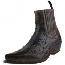 SENDRA stivali PITONE SCARPE UOMO 9756 stivaletti pelle stivali scarpe nere