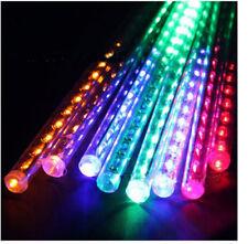 LED Lights Meteor Shower Rain 8 Tube Xmas Tree Outdoor Light 20CM/30CM/50CM/80CM