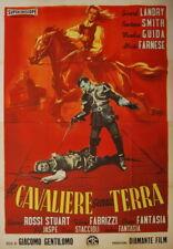 Gerard Landry IL CAVALIERE SENZA TERRA manifesto 4F originale 1958