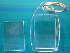 Blank Photo Key Rings Keyrings - 6 , 8, or 10 - Insert Size 35 mm x 24 mm