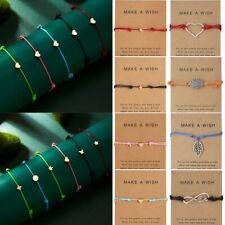 Chic Women Make a wish Bracelet Rope String Lucky Bracelet Hot Sale Adjustable