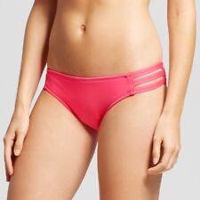 Mossimo Fruit Punch Pink Strappy Cheeky Bikini Bottom Swimwear Women's S,M #1868
