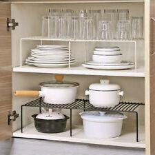 Expandable Kitchen Cupboard Shelf Organiser Cabinet Pantry Storage Rack Holder
