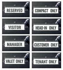 "4"" RESERVED VISITOR MANAGER CUSTOMER stencils for parking lot"
