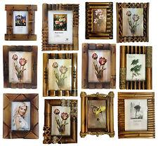 Bilderrahmen aus Bambus Holz Foto Galerie Fotorahmen Fotoalbum in 5 Großen Antik