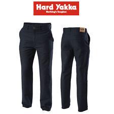 Mens Hard Yakka Jeans Foundations Trousers Moleskin Pants Navy Heavy Duty Y03876