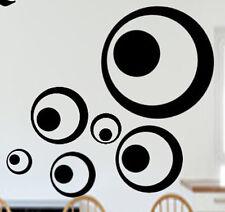 Retro Dots Kreise 70er Wandtattoo Wallsticker Muursticker Aufkleber /Fenster/Bad