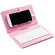 Pulgadas Micro USB Carcasa Con Soporte De Cuero con teclado