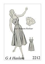 1950s Vintage Sewing Pattern Rockabilly Sweetheart Bolero Beach Dress 50s 1950