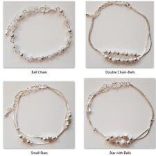 Kids Children Girls Sterling Silver Ankle Chain/ Ankle Bracelet/Anklet 7 Designs