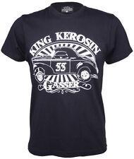 King Kerosin Oldschool GASSER Vintage T-Shirt - Schwarz Rockabilly