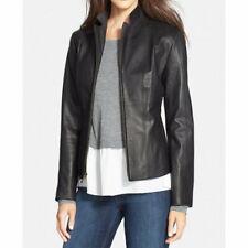 Simple Genuine Women Leather jacket Black Real leather Coat Ladies Slim Fit
