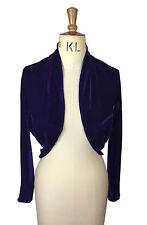 Baylis Knight Purple Velvet Long Sleeve BOLERO Cardigan Wrap Stole Shrug