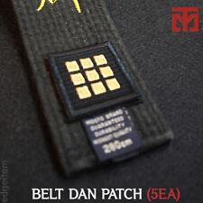 MOOTO Black Belt Dan Patch 5EA Taekwondo Uniform Dobok Judo Karate Hapkido Kendo