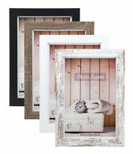 Nelson Holz Bilderrahmen 10x15 cm bis 40x60 cm Shabby Weiß Braun Foto Rahmen