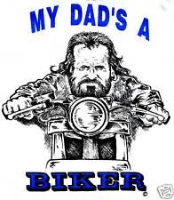 Baby Grow Baby Wear White - My Dad's A Biker Slogan