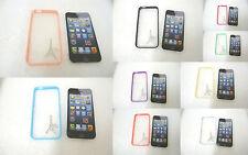 Delgado Transparente Transparente TPU Protecter Funda Dura para iPhone 5 5S