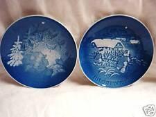 2 Copenhagen Porcelain Christmas Plates by B&G 81 & 82