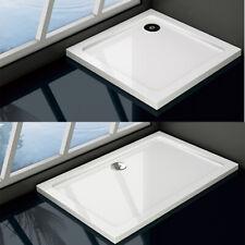 30mm Slimline Shower Enclosure Square Rectangle Shower Stone Tray &Free Waste