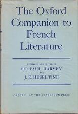 The Oxford Companion to French Literature 1966