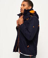 Superdry à Capuche pour Homme Arctic Windcheater Manteau d'hiver Veste Bleu Marine Orange (#11226)