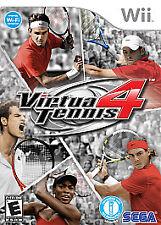 Virtua Tennis 4 - Nintendo Wii  FREE FIRST CLASS SHIPPING !!!!!