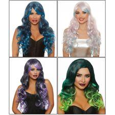 Ombre Wig Adult Womens Long Wavy Halloween Costume Fancy Dress