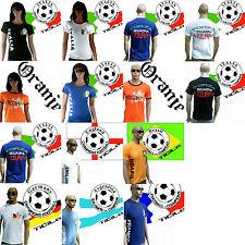 TICILA Fussball WM EM Fan T-Shirt Trikot S/M/L/XL/XXL Frauen Herren Lady Men WoW
