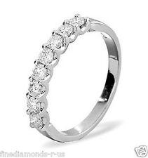 0.40ct Round Diamonds Half Eternity Wedding Ring in White,Yellow Gold & Platinum
