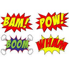 VWAQ Comic Book Set Of 4 Wall Decal Sound Effects Comic Book Bam Pow Boom