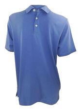 Marks & Spencer denim blue short sleeved polo shirt