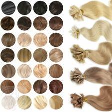 100 Remy Echthaar Extensions 1g 45cm Bondings Wärmezange Haarverlängerung Wellig