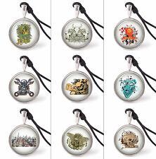 VietsWay Graffiti Art Designs Necklace Pendants Pewter Silver