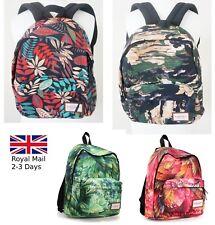 Designed Women Girls Backpack Rucksack Handbag Satchel Travel School Bag Leaves
