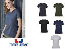 maglietta t-shirt donna manica corta girocollo tee jays cotone 100% ampio scollo