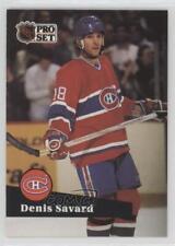 1991-92 Pro Set French #128 Denis Savard Montreal Canadiens Hockey Card