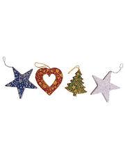 BNWT Namaste Handmade Recycled Paper Christmas Decoration!