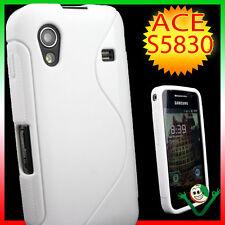 Pellicola+Custodia cover WAVE Bianca lucida per Samsung Galaxy ACE S5830 case