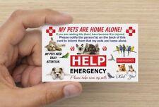 Emergency Pet Card