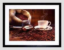 Fotografia Chicco di caffè Tazza Sacco Scoop Nero Framed Art Print PICTURE b12x4791
