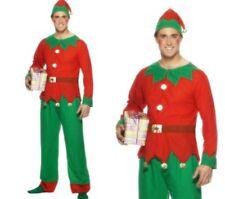 hommes Déguisement Lutin Noël Père Noël Helper Costume M, L