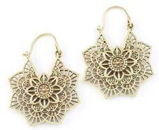 Mandala Brass Earrings , Tribal Brass Earrings, Festival Earrings, Gypsy Earring