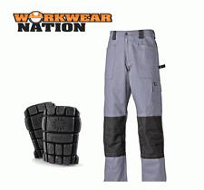 Dickies Grafter DUO TONOS PANTALONES CORDURA Rodilla Trabajo Pantalones,gris de