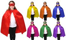 Kid's Cape Kid Cape Superhero Plain Colour Cloak 90cm Satin