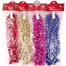 3 Metri Extra Spessi metallica Natale Ghirlanda perline perle