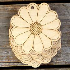 10x de madera dasiy detallado Forma de Flor Comic Craft 3 mm capas Primavera árboles de jardín