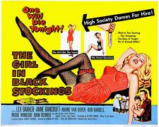 The Girl In Black Stockings - 1957 - Movie Poster