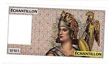 ATHENA Droite BANQUE DE FRANCE TEST NOTE ECHANTILLON 100 FRS DELACROIX ORIGINAL