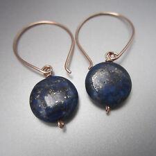 Lapis Lazuli Dangle/Drop Stone Earring Rose Gold Filled